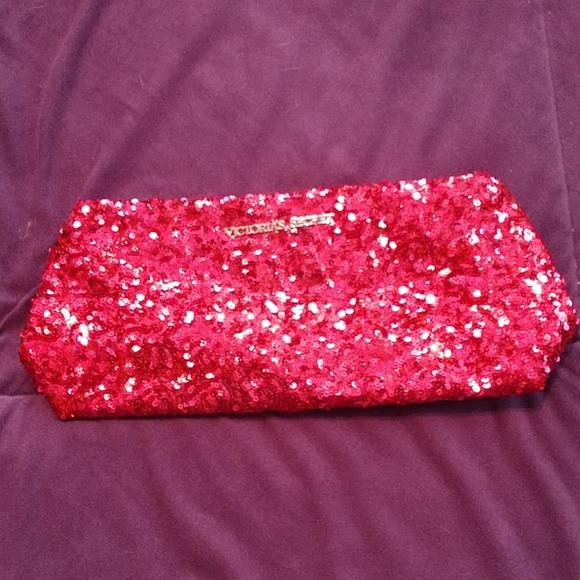 Victoria's Secret Handbags - Victoria's Secret Pink Sequin Evening Bag